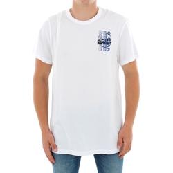 vaatteet Miehet Lyhythihainen t-paita G-Star Raw ZB GRAPHIC 4 R T SS WHITE Blanco