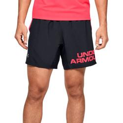 vaatteet Miehet Shortsit / Bermuda-shortsit Under Armour Speed Stride Graphic 7 Shorts Noir