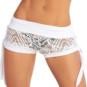vaatteet Naiset Shortsit / Bermuda-shortsit Mapalé 7713 BLANC Valkoinen