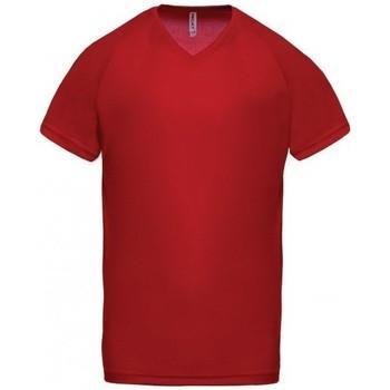 vaatteet Miehet Lyhythihainen t-paita Proact T-Shirt Col V  Sport rouge