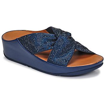 kengät Naiset Sandaalit ja avokkaat FitFlop TWISS CRYSTAL SLIDE Sininen