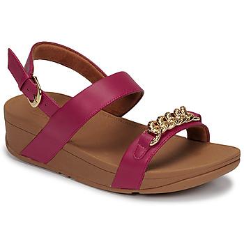kengät Naiset Sandaalit ja avokkaat FitFlop LOTTIE CHAIN BACK-STRAP SANDALS Fuksia