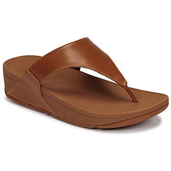 kengät Naiset Sandaalit ja avokkaat FitFlop LULU LEATHER TOEPOST Caramel