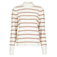 vaatteet Naiset Neulepusero Vero Moda VMCORNELIAPUFF White / Brown