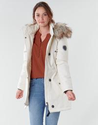 vaatteet Naiset Parkatakki Only ONLIRIS Valkoinen