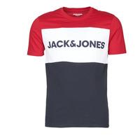 vaatteet Miehet Lyhythihainen t-paita Jack & Jones JJELOGO BLOCKING Red