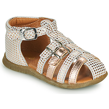kengät Tytöt Sandaalit ja avokkaat GBB PERLE Valkoinen / Vaaleanpunainen