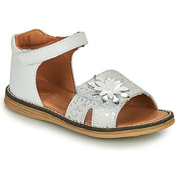 kengät Tytöt Sandaalit ja avokkaat GBB SATIA Valkoinen / Hopea