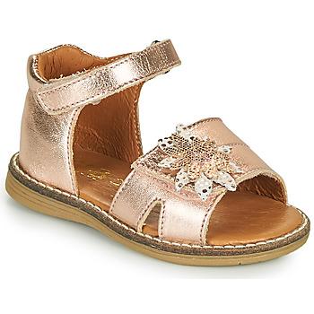 kengät Tytöt Sandaalit ja avokkaat GBB SATIA Vaaleanpunainen / Kulta
