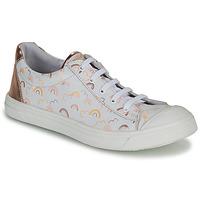 kengät Tytöt Matalavartiset tennarit GBB MATIA Valkoinen / Vaaleanpunainen