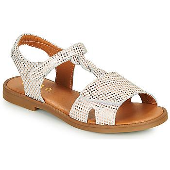 kengät Tytöt Sandaalit ja avokkaat GBB FARENA Valkoinen / Vaaleanpunainen / Kulta