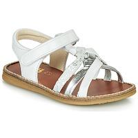 kengät Tytöt Sandaalit ja avokkaat GBB SUMY Valkoinen / Hopea