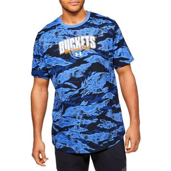vaatteet Miehet Lyhythihainen t-paita Under Armour Baseline Verbiage Tee Bleu