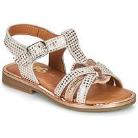 kengät Tytöt Sandaalit ja avokkaat GBB EGEA Valkoinen / Vaaleanpunainen / Kulta