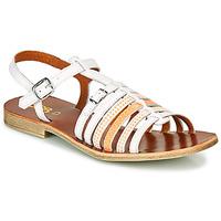 kengät Tytöt Sandaalit ja avokkaat GBB BANGKOK White / Orange