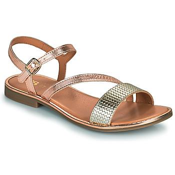 kengät Tytöt Sandaalit ja avokkaat GBB FANA Vaaleanpunainen / Kulta / Kulta