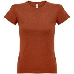 vaatteet Naiset Lyhythihainen t-paita Sols 11502 Terracotta