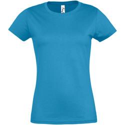 vaatteet Naiset Lyhythihainen t-paita Sols 11502 Aqua