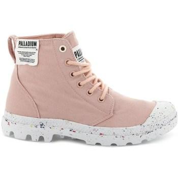 kengät Naiset Korkeavartiset tennarit Palladium Manufacture Pampa HI Vaaleanpunaiset