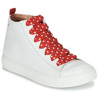 kengät Tytöt Korkeavartiset tennarit Little Mary SASHA (VE014) Valkoinen / Punainen