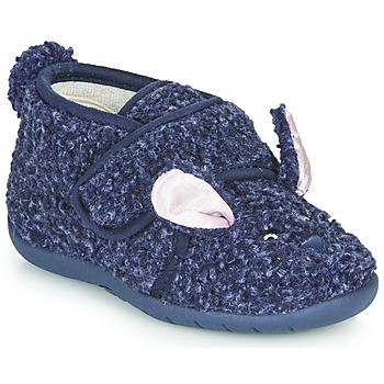 kengät Lapset Tossut Little Mary LAPINVELCRO Sininen