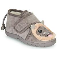 kengät Lapset Tossut Little Mary LIONVELCRO Harmaa