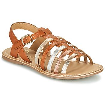 kengät Tytöt Sandaalit ja avokkaat Little Mary BARBADE Cognac / Pink