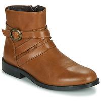 kengät Tytöt Bootsit Little Mary TIMOTHY Cognac