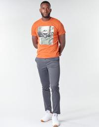 vaatteet Miehet Chino-housut / Porkkanahousut Jack & Jones JJIMARCO Grey