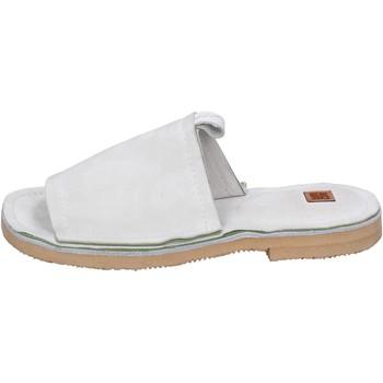 kengät Naiset Sandaalit Moma sandali camoscio Bianco