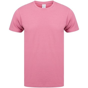 vaatteet Miehet Lyhythihainen t-paita Skinni Fit SF121 Dusky Pink