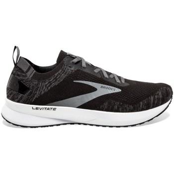 kengät Miehet Juoksukengät / Trail-kengät Brooks Levitate 4 M Mustat
