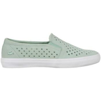kengät Naiset Tennarit Lacoste Gazon Slip ON 216 1 Caw Vihreät