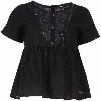 vaatteet Naiset Topit / Puserot Teddy Smith T-TAIS Musta