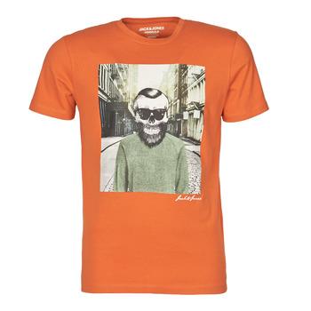 vaatteet Miehet Lyhythihainen t-paita Jack & Jones JORSKULLING Oranssi