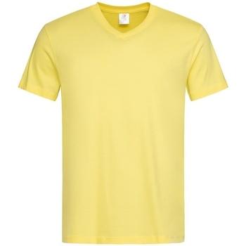 vaatteet Miehet Lyhythihainen t-paita Stedman  Yellow