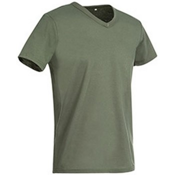 vaatteet Miehet Lyhythihainen t-paita Stedman Stars  Military Green