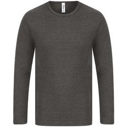 vaatteet Miehet T-paidat pitkillä hihoilla Absolute Apparel  Charcoal