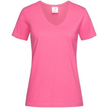 vaatteet Naiset Lyhythihainen t-paita Stedman  Sweet Pink