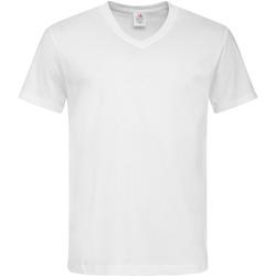 vaatteet Miehet Lyhythihainen t-paita Stedman  White