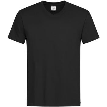 vaatteet Miehet Lyhythihainen t-paita Stedman  Black Opal