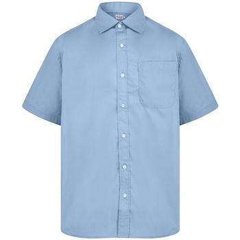 vaatteet Miehet Lyhythihainen paitapusero Absolute Apparel  Light Blue