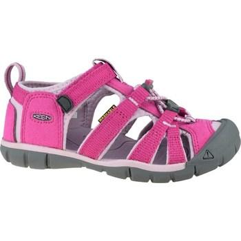 kengät Lapset Urheilusandaalit Keen Seacamp II Cnx JR Harmaat,Vaaleanpunaiset