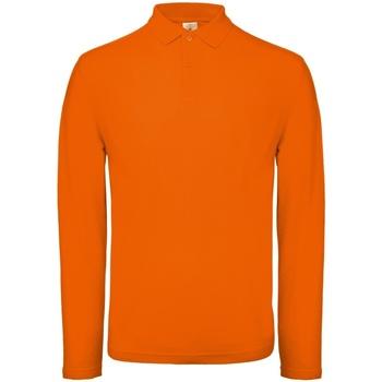 vaatteet Miehet Pitkähihainen poolopaita B And C PUI12 Bright Orange