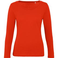 vaatteet Naiset T-paidat pitkillä hihoilla B And C TW071 Fire Red