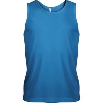 vaatteet Miehet Hihattomat paidat / Hihattomat t-paidat Proact Débardeur  Sport bleu eau