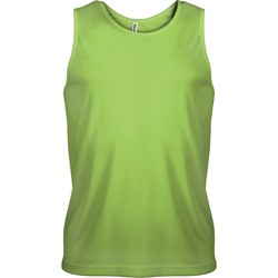 vaatteet Miehet Hihattomat paidat / Hihattomat t-paidat Proact Débardeur  Sport vert fluo