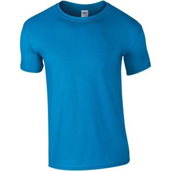 vaatteet Miehet Lyhythihainen t-paita Gildan Soft-Style Sapphire