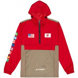 vaatteet Miehet Tuulitakit Huf Jacket flags anorak Punainen