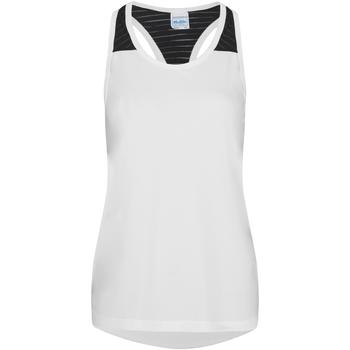 vaatteet Naiset Hihattomat paidat / Hihattomat t-paidat Awdis JC027 Arctic White